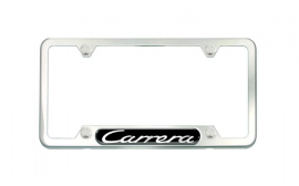 Porsche 911 Carrera Stainless Steel License Plate Frame, Brushed