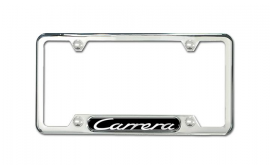 Porsche 911 Carrera Stainless Steel License Plate Frame Polished