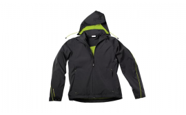 Porsche Men's Sport Jacket- Black and Acid Green