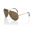 Porsche Design Aviator Sunglasses, Light Gold