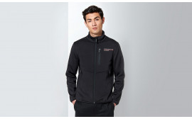 Motorsports Collection Men's Fanwear Black Softshell Jacket