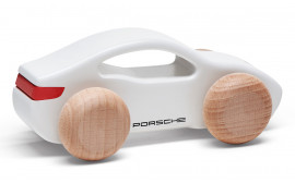 Taycan Collection Kids' White/Red Wooden Toy Car