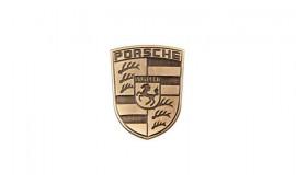 Porsche Metal Emblem-Glovebox
