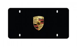 Porsche Badge Plate Matte Black