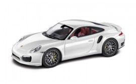 Porsche MODEL CAR 911 TURBO S COUPE WHITE