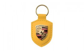 Porsche Crest Keyring - Yellow