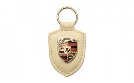 Porsche Crest Keyring - White