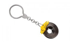 Porsche Brake Disc Key Ring - Yellow