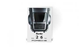 Porsche 911 Turbo Enamel Calendar