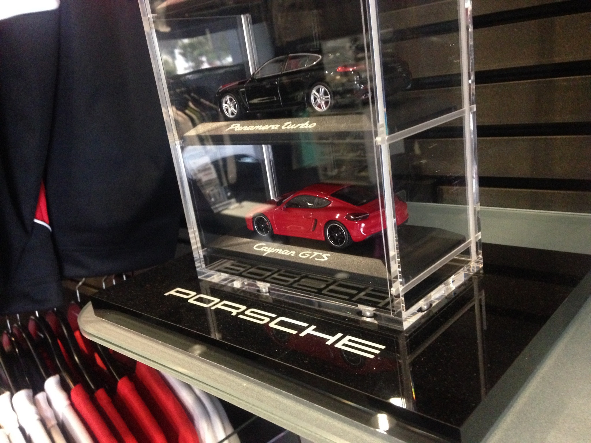 Porsche Car Tower Model Car Display - Car display