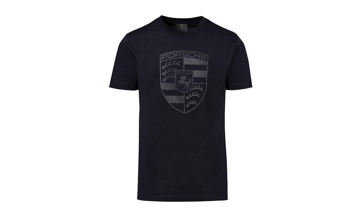 porsche men s crest t shirt. Black Bedroom Furniture Sets. Home Design Ideas