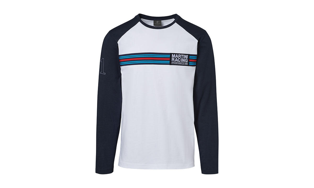 porsche martini racing men 39 s long sleeve t shirt. Black Bedroom Furniture Sets. Home Design Ideas