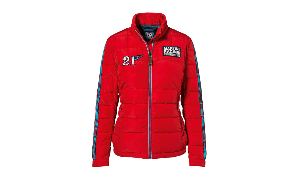 porsche martini racing quilted jacket for women. Black Bedroom Furniture Sets. Home Design Ideas