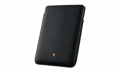 Porsche Ipad Case, Black W/Red Stitching