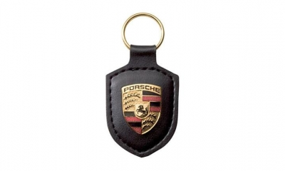 Porsche Crest Keyring - Black