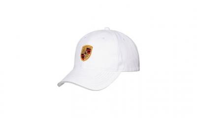 Porsche Crest Baseball Cap - White