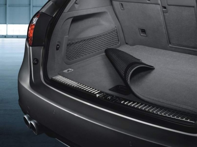 Porsche Reversible Luggage-Compartment Mat with Nubuk surround