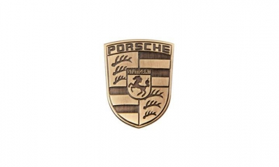 Porsche Metal Emblem-Glovebox