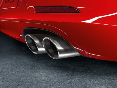 Porsche 911 Carrera Sport Exhaust System with Brushed Tips