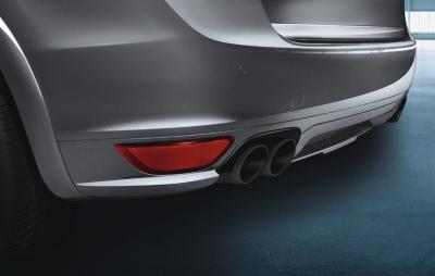 Porsche GTS Sport tailpipes, Black
