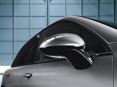 Porsche Exterior Mirror Painted in Black (High Gloss)