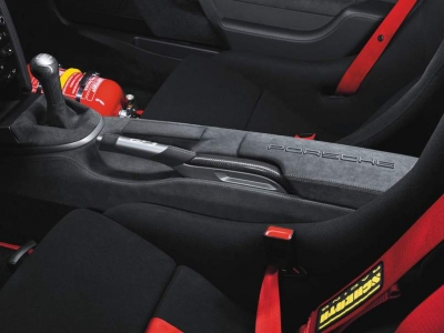 Porsche Rear Center Console in Alcantara