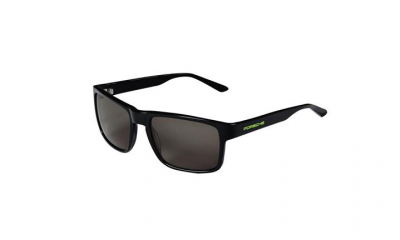 Porsche Unisex Sunglasses, Gray/Glossy Black