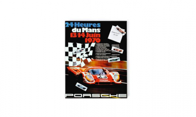 Porsche 1970 Racing Poster Magnet Board