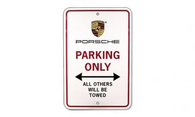 Porsche Parking Sign