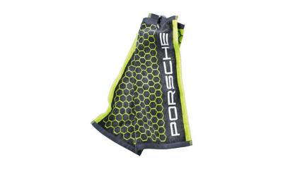 Porsche Golf Towel - Acid Green