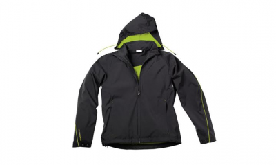 Porsche Men's Sport Jacket- Black and Acid Green