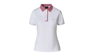Taycan Collection White/Rose Women's Polo Shirt