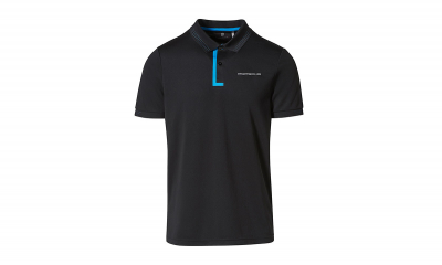 Taycan Collection Black/Blue Men's Polo Shirt