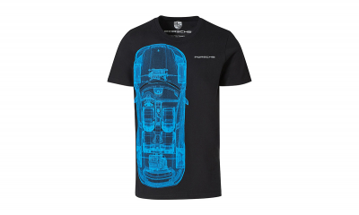Taycan Collection Black/Blue Collector's Unisex T-Shirt No.16