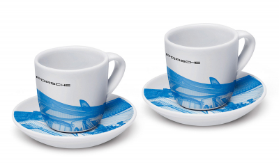 Taycan Collection Limited Edition White/Digital Blue Collector's Espresso Set